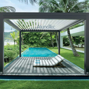 Automatic Louvered Roof System Aluminum Gazebo Pergola for Backyard