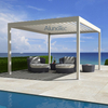 Aluminum Outdoor Pergola Covers attached to house with Side blinds