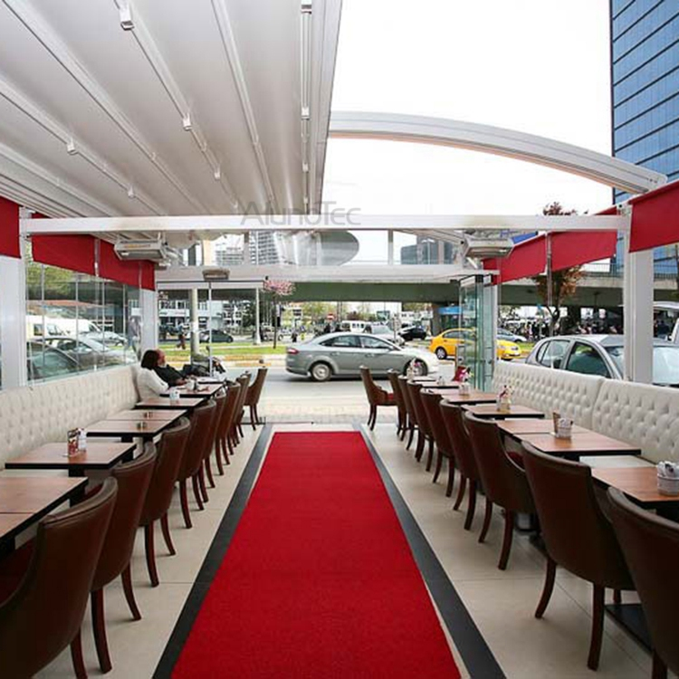 Retractable Patio Shade Awnings Pergola For Restaurant