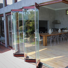 Modern Stainless Steel Framless Glass Bi-fold Door or Accessories