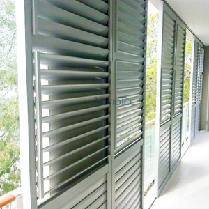 Aluminum Plantation Shutter Door