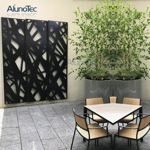 Art Aluminium Laser Cut Pattern Facade Cladding Screen for Garden