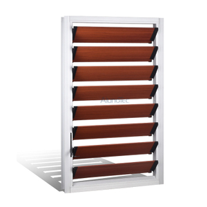 Durable Wood Color Aluminum Shutter Window