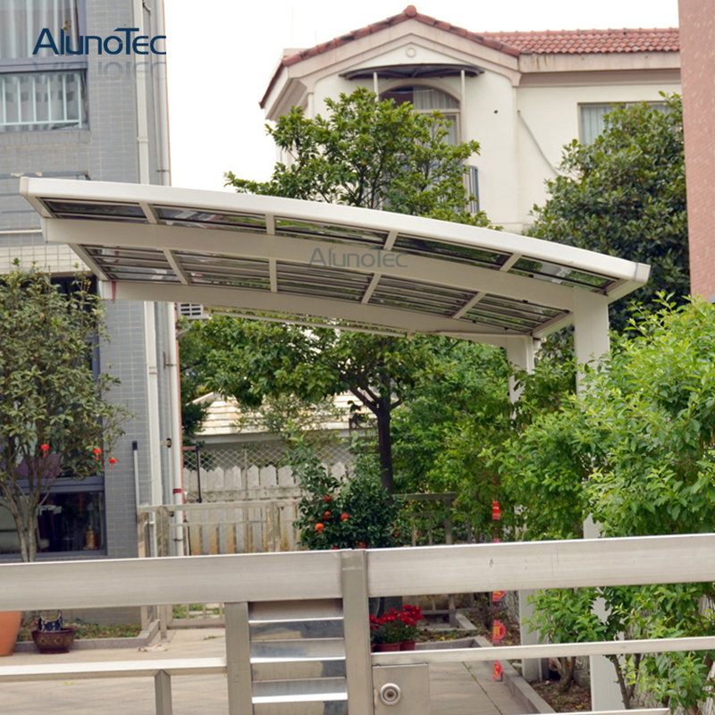 Aluminum Frame Polycarbonate Sheet Roof Bike Shelter Single Carport Design For Wholesale