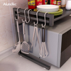 Retractable Stainless Steel Standing Microwave Oven Stand Kitchen Storage Rack