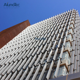 Decorative Vertical Aluminium Aerofoil Sun Louvre for Building Facade