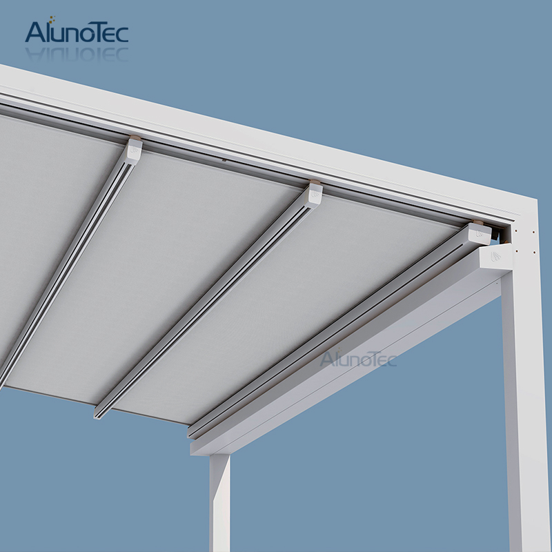 Bioclimatic Garden Tent Awning Retractable With Louvered Roof
