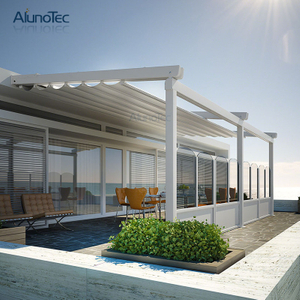 Outdoor Aluminium Retractable Roof Shading System