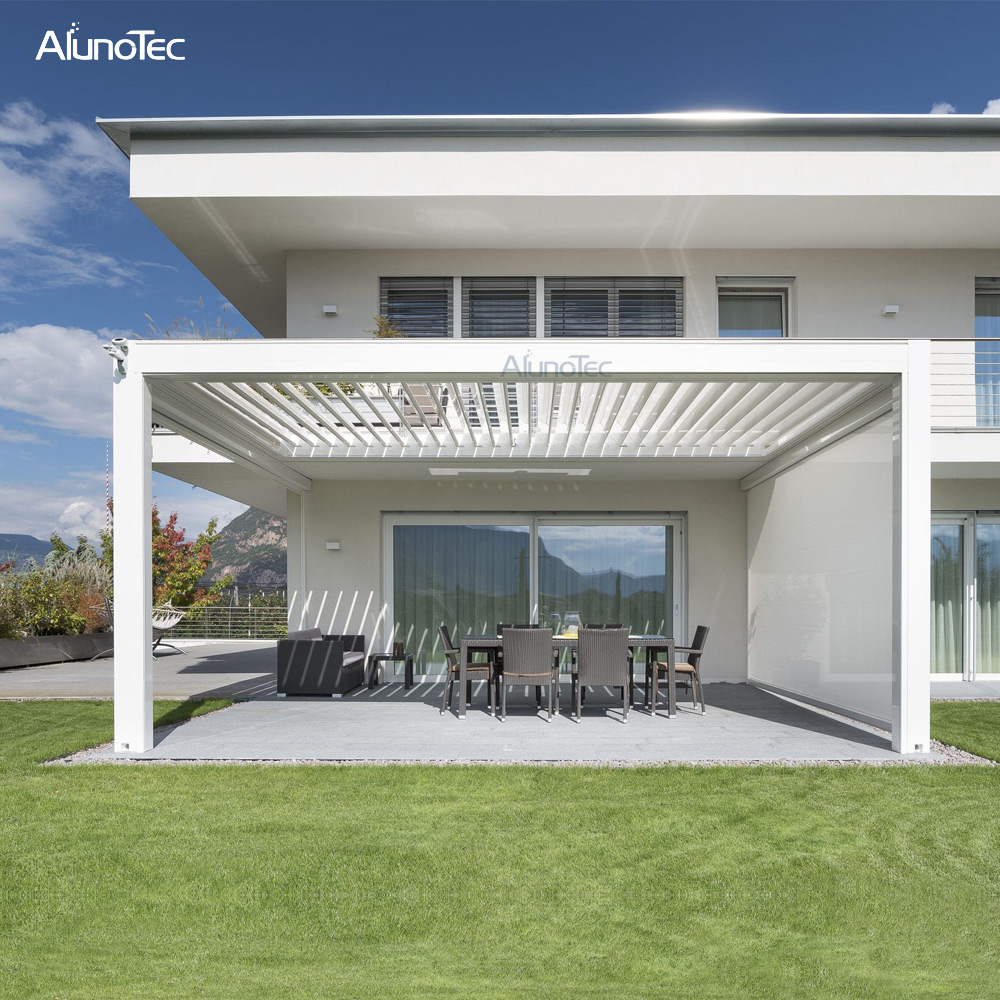 Sun Shading Motorised Retractable Pergola Roof for House