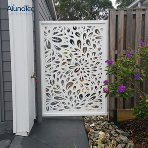 Architectural Laser Engrave Fence For Garden