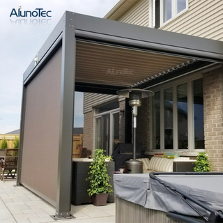 Customized Patio Aluminum Garden Motorized Zip Screen Shade