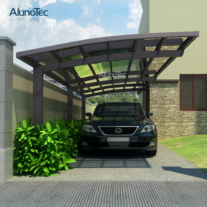 Waterproof Car Mulch Single Side Garages Shelter Aluminum Canopy