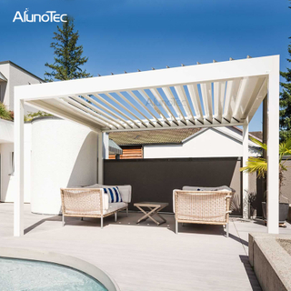 Motorized Bioclimatic Gazebo Pergola Kits With Screens And Lights