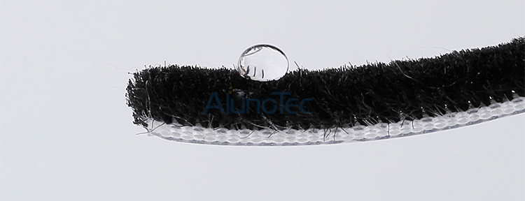 Wool pile weather strip strip brush for aluminum sliding door and window