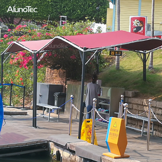 DIY Gazebo Terrace Awning Car Parking Tents with Steel Frame for Outdoor Restaurants Garden