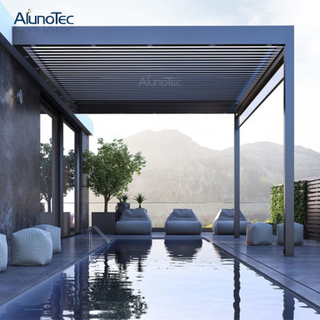 Remote Controlled Opening Louvre Roof Pergola Systems For Swimming Pool