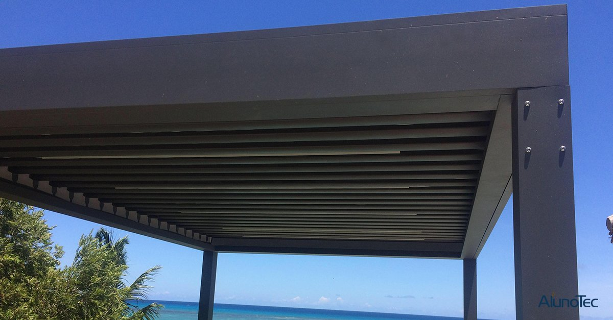 AlunoTec Pergola System Project Case - Pictures are provided by Mr. Didier from Mauritius, thanks a lot!