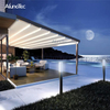 Bioclimatic Awning Retractable Pergola Roof Awning For Outdoor