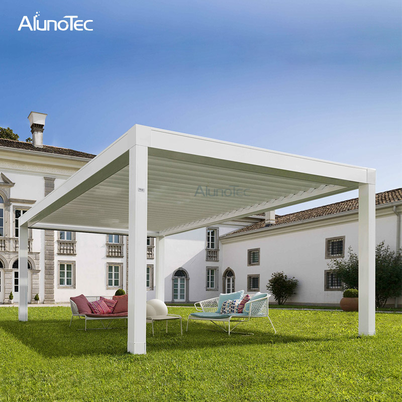 Outdoor Motorized Waterproof Tent Pergola And Gazebo For Car Shading