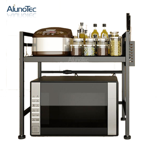Multifunctional Kitchen Stainless Steel Standing Microwave Storage Rack