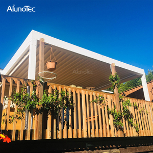 China Modern Waterproof Pvc Electric Garden Sun Shade Pergola Kits