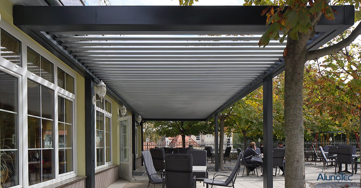 Bioclimatic Pergola as Outdoor Patio Cover