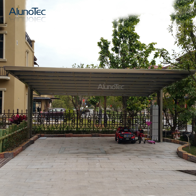 2020 Metal Luxury 2 Posts Garage Cover Aluminum Carport Kits for Car