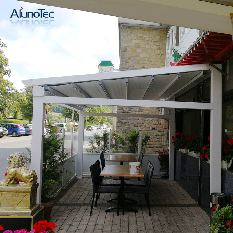 Outdoor Awning Adjustable Gazebo Electric Tent Retractable Roof For Patio