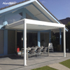 Outdoor Swimming Pool Adjustable Canvas Pergolas With Louvered Roof