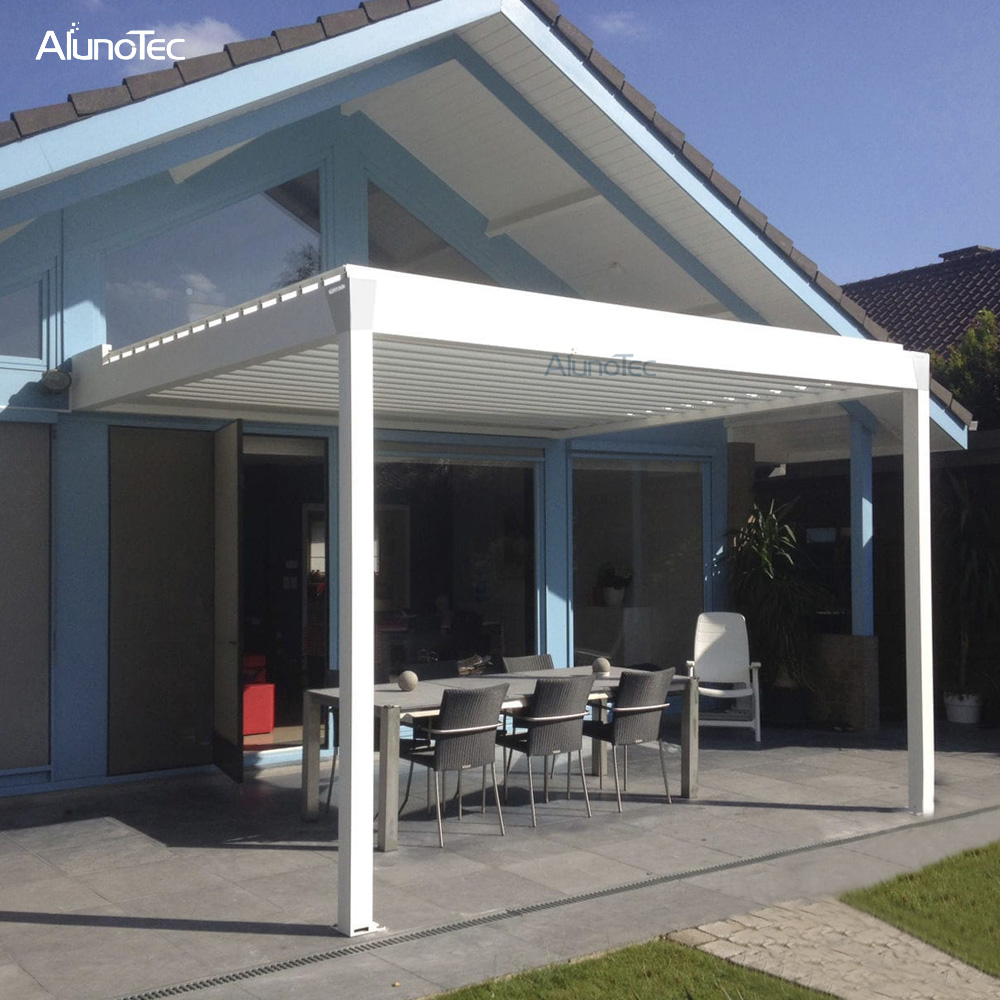 Garden pergola Waterproof Retractable Gazebo 3x3 With Electric System