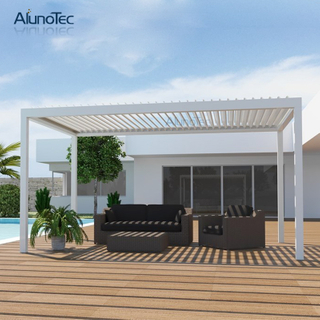 Chinese Aluminum Gazebo Pergolas Motorized Patio Bioclimatic Pergola With Louvered Roof