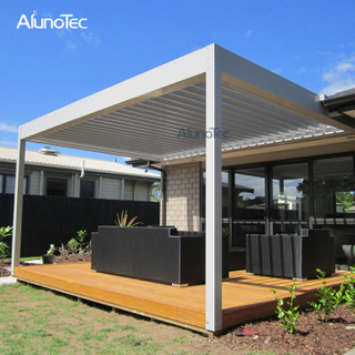 Electric Shade Pergola Aluminum Pavilion Gazebo For Outdoor