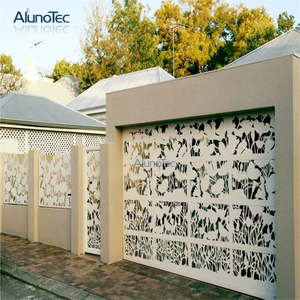Nordic Style Laser Cut Screen Outdoor Metal Screen Door