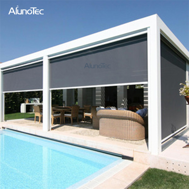 Waterproof Zipper Motorized Vertical Side Screen for Pergola
