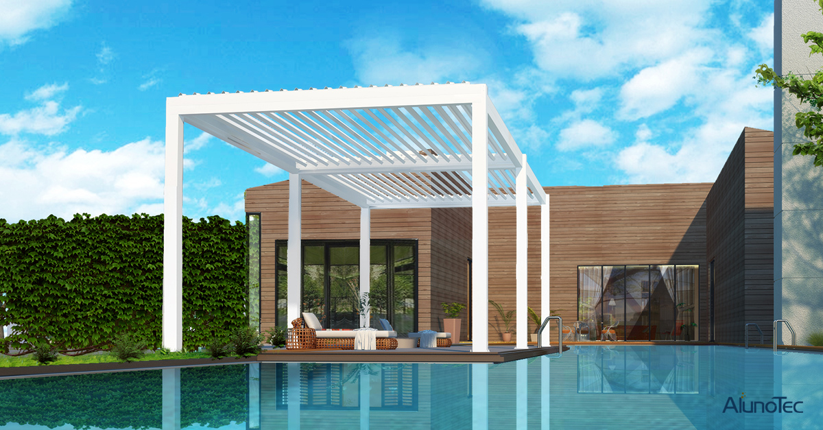 Waterproof Pergola for Swimming Pool