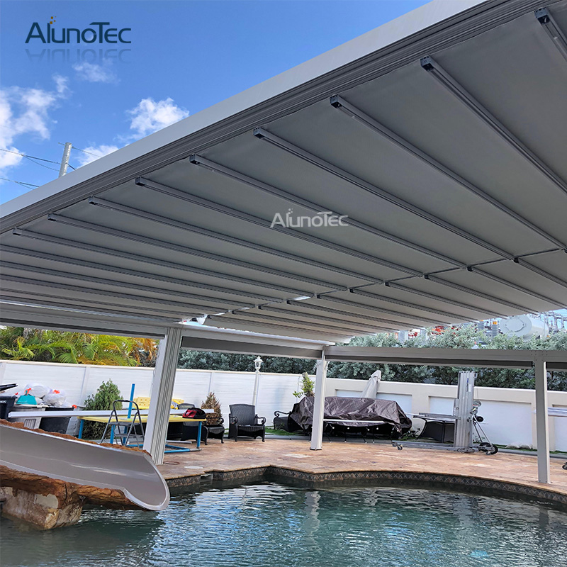 Waterproof Pvc Awning Retractable Carport Awning With Aluminum