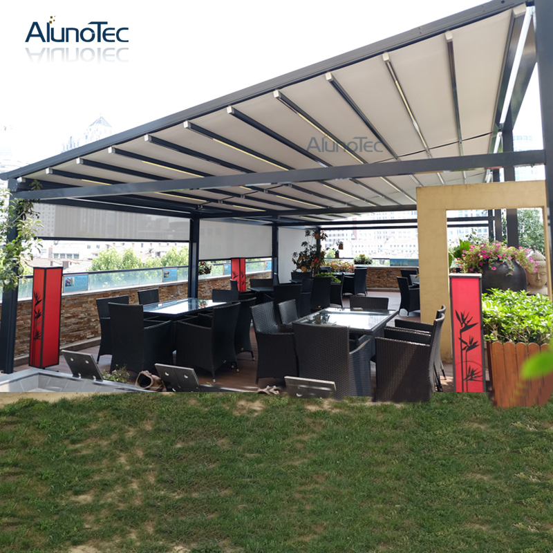 Waterproof Pvc Awning Roof Retractable With Operable Louvers
