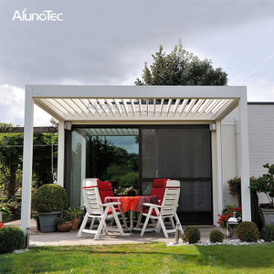 Outdoor Folding Aluminium Pergola Awning With Louvered Roof