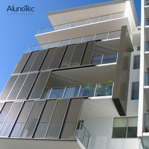 Exterior Bi Folding Aluminium Louvered Shutters