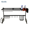Over Sink Black 85cm Utensil Storage Holder Drying Kitchen Dish Rack Stainless Steel