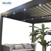 Motorised Outdoor Gazebo Modern Aluminium Louvre Roof Bioclimatic Pergola For Sunshade