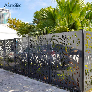 Laser Cut aluminum garden fence For Outdoor Living