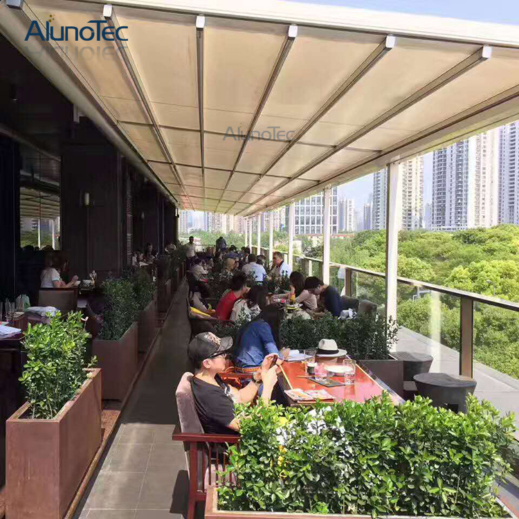 Retractable Patio Shade Awnings Pergola For Restaurant ...