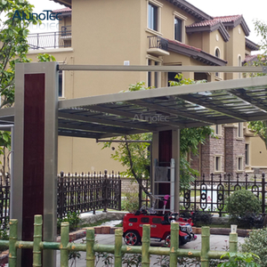 Modern Design Aluminum Carport-Arched Roof Outdoor Polycarbonate Car Parking