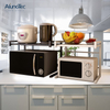 Stainless Steel Kitchen Storage Rack Dish Microwave Oven Storage Shelves