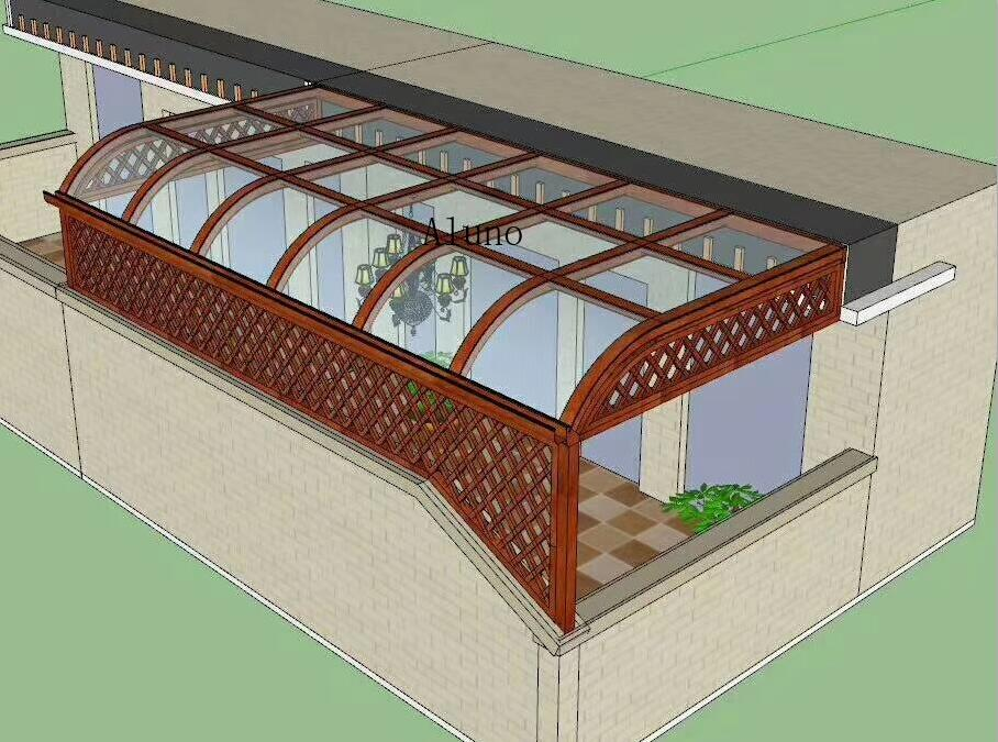3D drawing Canopy Awning