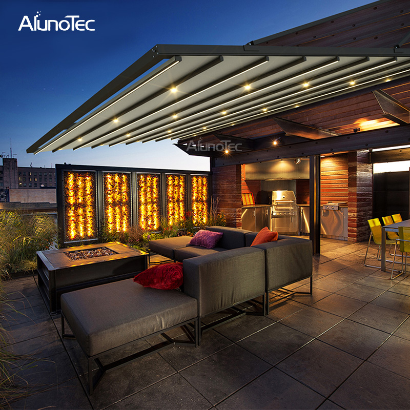 Modern Electric Retractable Roof Operable Awning For Patio