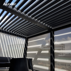 Unique Design Sun Shading Bioclimatic Pergola Aluminum Slats For Patio