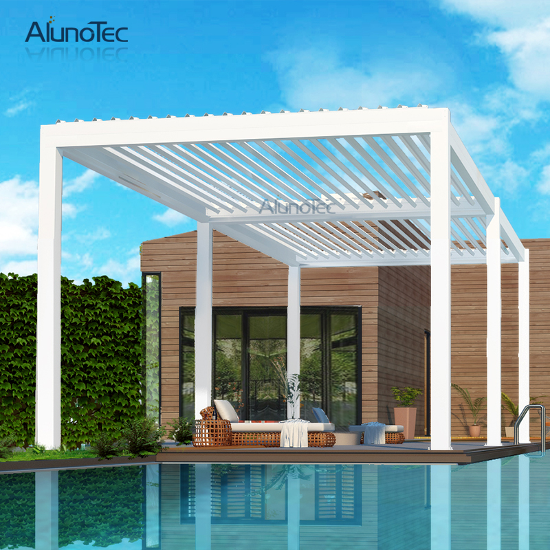 Chinese Terrace Automatic Garden Gazebo Electric Opening Pergola Roof System