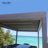 Hot Sale Aluminium Pergola Motorized Waterproof Louvre Roof With Car Shading
